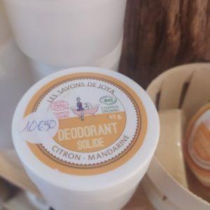 deodorant boite citron mandarine